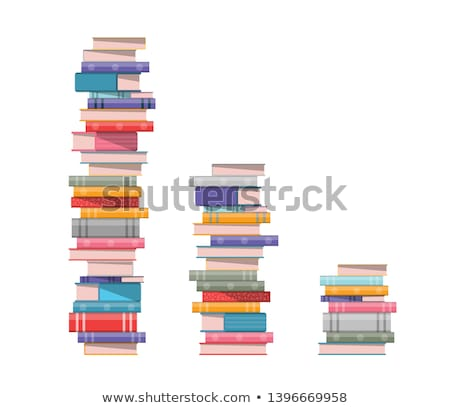 Book Stack Study Literature Color Vector Stock photo © pikepicture