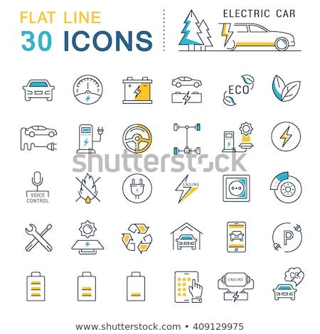 Parking samochodu kolekcja elementy wektora Zdjęcia stock © pikepicture