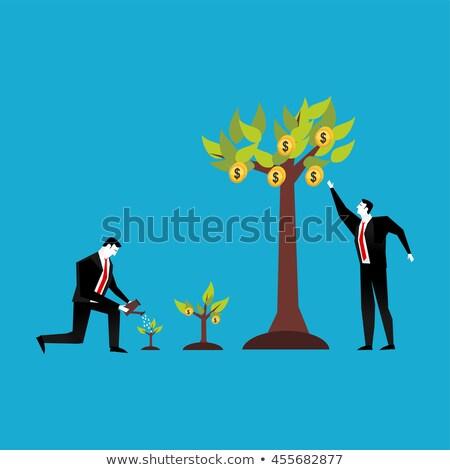 business people and investments growth vector stock photo © robuart