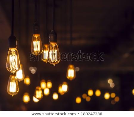 ホーム ライト 郊外の 夕暮れ ストックフォト © jsnover