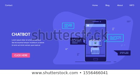 Chatbot Banner Concept Design, Stock Vector Illustration Stock photo © shai_halud