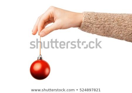 Frau Weihnachten Spielerei Baum ziemlich Stock foto © lovleah
