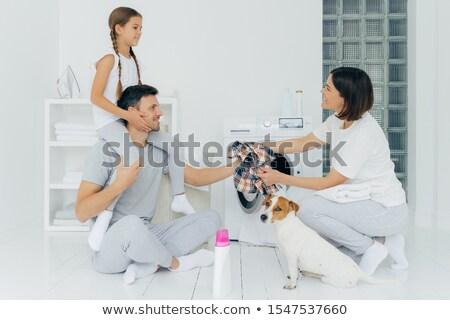 Coup affectueux père fille lavage Photo stock © vkstudio