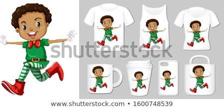 Karácsony manó termék sablonok illusztráció ruházat Stock fotó © bluering
