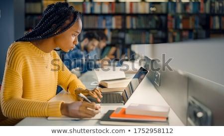 Studentów piśmie notebooki egzamin wykład edukacji Zdjęcia stock © dolgachov
