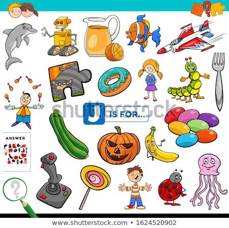 письме слов образовательный задача детей Cartoon Сток-фото © izakowski
