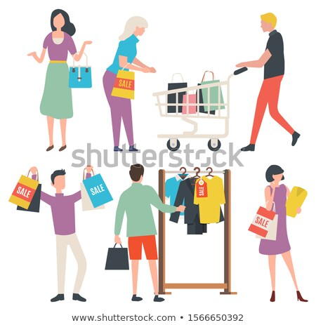 People with Purchase, Sale Old Collection Vector Stock photo © robuart