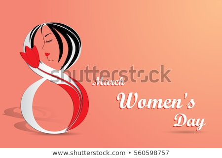 beautiful red lady face for happy womens day Stock photo © SArts