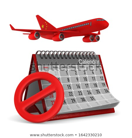 Calendario Cina aereo bianco isolato 3D Foto d'archivio © ISerg