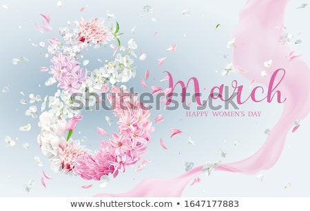 Lilac Hyacinth flower for 8 March vector greeting card Stock photo © LisaShu