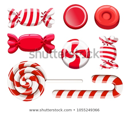 Natal doce pirulito vermelho arco férias Foto stock © kostins