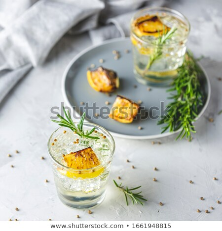 Charred Lemon, Rosemary and Coriander Gin and Tonic is a flavors Stock photo © artsvitlyna