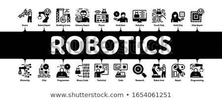 Robotics Master Minimal Infographic Banner Vector Stock photo © pikepicture