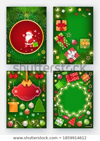окончательный продажи зима праздников набор рекламный Сток-фото © robuart