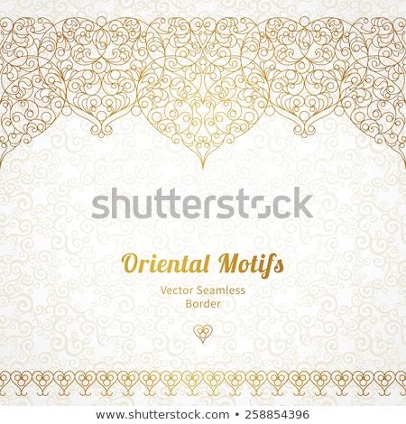 Tradicional ornamento papel abstrato preto ouro Foto stock © AbsentA
