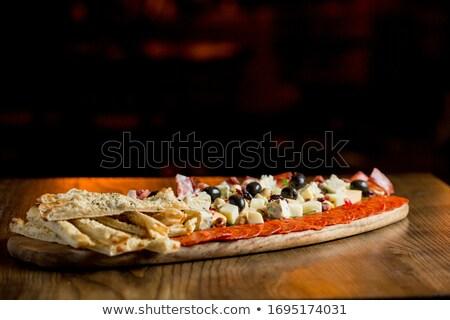 プロシュート 辛い イタリア語 ソーセージ チーズ ナッツ ストックフォト © boggy