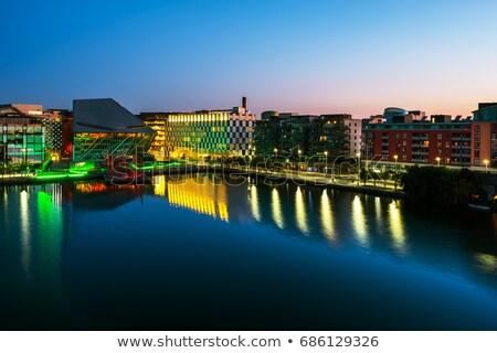 Csatorna Dublin Írország város központ égbolt Stock fotó © borisb17
