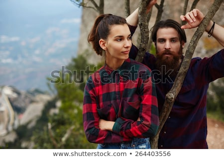 Young woman with beaver Stock photo © olira