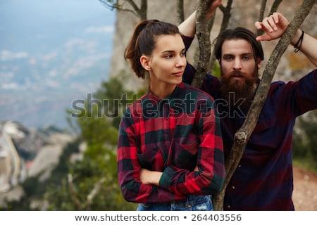 Genç kadın kunduz eller kız sevmek kadın Stok fotoğraf © olira