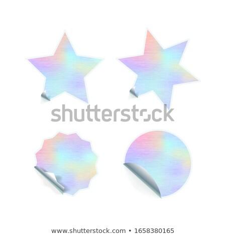 Fényes trendi tapadó matricák hologram minta Stock fotó © evgeny89