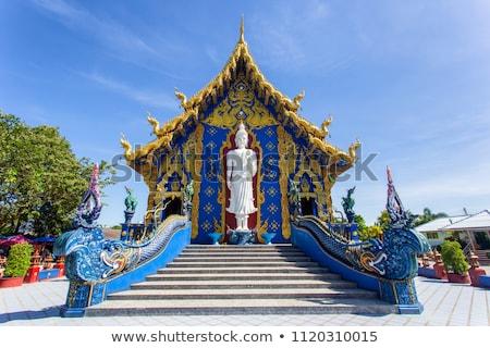 Dez azul templo Tailândia verão dia Foto stock © bloodua