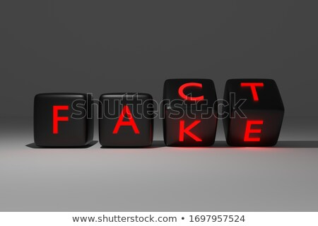 Fake Fact Cubes Stock photo © limbi007