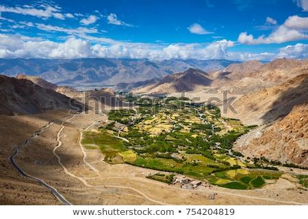 View valle himalaya cielo nubi natura Foto d'archivio © dmitry_rukhlenko