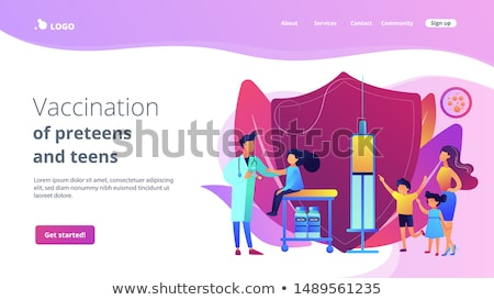 Vaccination of preteens and teens concept landing page. Stock photo © RAStudio