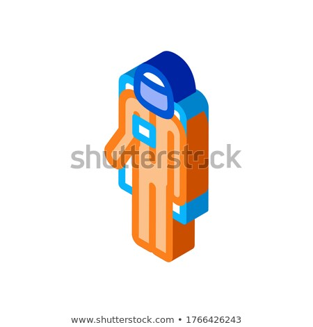 Astronaut Cosmic Suit isometric icon vector illustration Stock photo © pikepicture