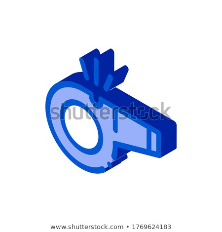 Whistle Arbitrator Tool isometric icon vector illustration Stock photo © pikepicture