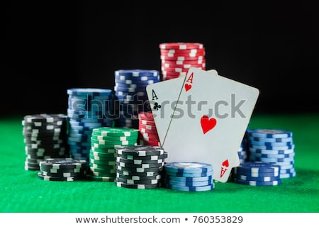 Deux poker sombre Photo stock © romvo