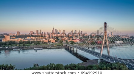 skyline · Warschau · gedetailleerd · vector · business · gebouw - stockfoto © unkreatives