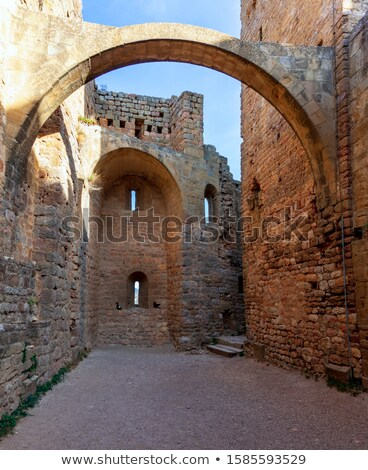 Yard of a Castle of Loarre Stock photo © Nobilior