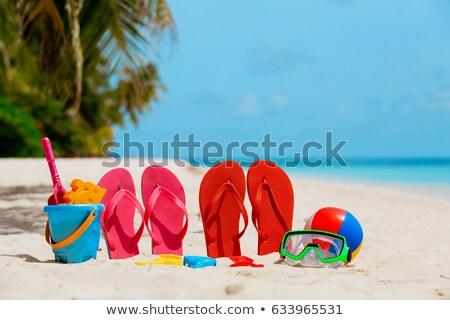 tengerpart · játékok · ásó · ásó · homok · napos · idő - stock fotó © hofmeester