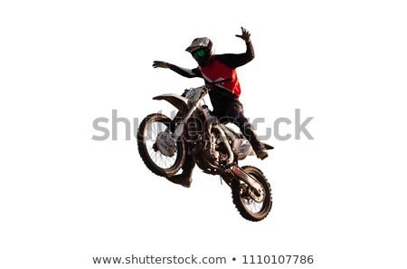 Freestyle motocicleta vetor isolado bicicleta raça Foto stock © pavelmidi