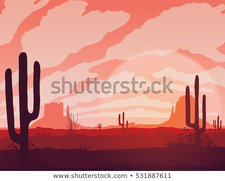 Vector grass silhouette background - sunset stock photo © orson