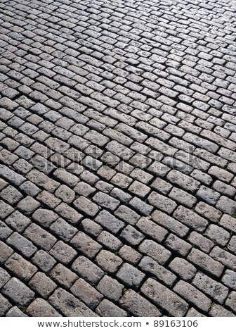 Old English cobblestones road in Plymouth close up. Stock photo © latent