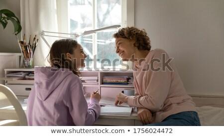 молодой · читатель · портрет · девушки · книгах - Сток-фото © pressmaster
