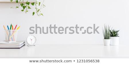 Klok klimop tijd blad achtergrond plant Stockfoto © devon