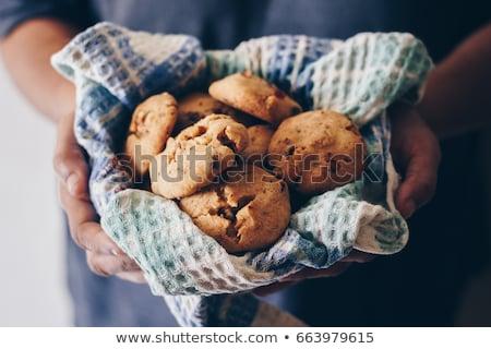 Casero cookies alimentos postre aislado Foto stock © simas2