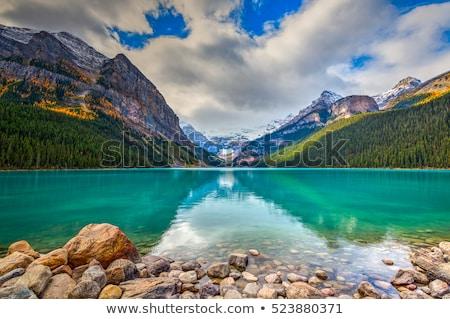 озеро · зима · парка · деревья · области · гор - Сток-фото © devon
