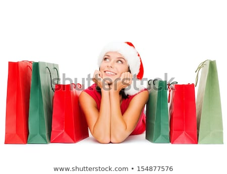 alegre · ayudante · blanco · mujer - foto stock © dolgachov