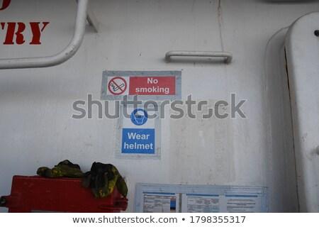 Dohányozni tilos veszélyes teher óriási felirat fényes Stock fotó © searagen