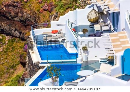 Piscina mar verão azul relaxar natação Foto stock © njaj