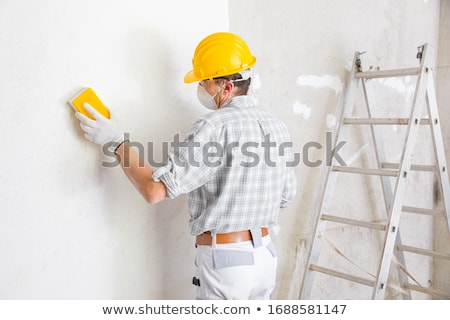 worker preparing a wall stock photo © photography33