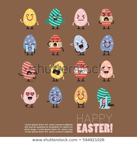 Laughing Egg Characters Stock photo © albund