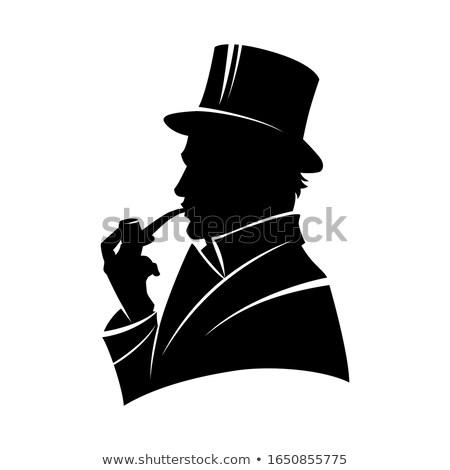 úriember felső kalap férfi divat fej Stock fotó © photography33