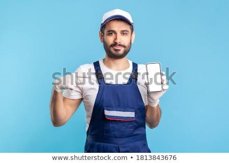 Happy workman, studio shot Stock photo © photography33