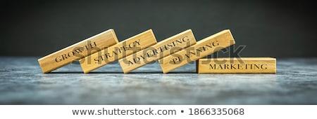 creative strategy - golden blocks Stock photo © marinini