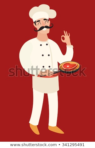 Chef with an @ sign on his frying pan Stock photo © photography33